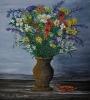 Vaso antico con fiori campestri