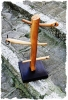 albero della cuccagna legno di ulivo base di faggio cm 30x30 altezza cm 85
