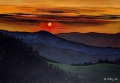 Tramonto sul monte Sirino