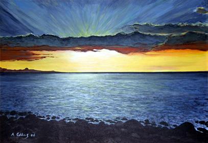 quadri tramonti